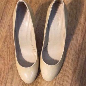 Jcrew patent leather nude heels
